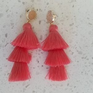 BaubleBar Drop Pink Earrings